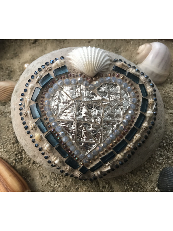 Silver and Blue Beachy Mosaic