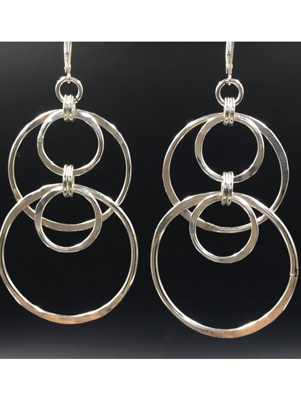 Sterling Silver Handcrafted Multi Link Earrings