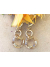Handwrought Large 14K Gold Fill Links with  Crystal Golden Shadow Link