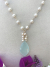 Chalcedony Drop Akoya Pearls Gold Fill Necklace