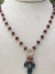 London Blue Topaz and Hessonite Garnet Necklace
