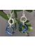 Handwrought Sterling Silver Link with Bermuda Blue Link Earrings