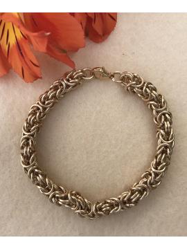 14 K Gold Fill Classic Byzantine Bracelet