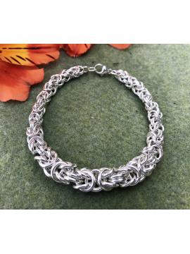 Graduated Silver Byzantine Bracelet