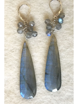 Perfect Labradorite Confetti Drop Earrings