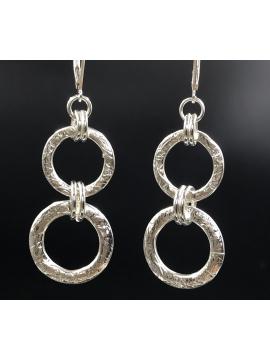 Sterling Silver Double Link Earrings