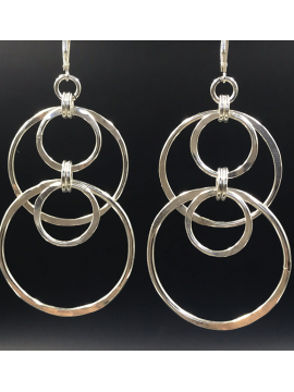 Sterling Silver Handcrafted Multi Link Earrings