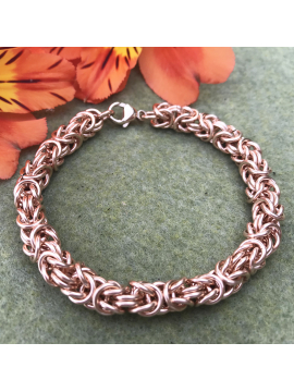 14K Rose Gold filled Byzantine Bracelet