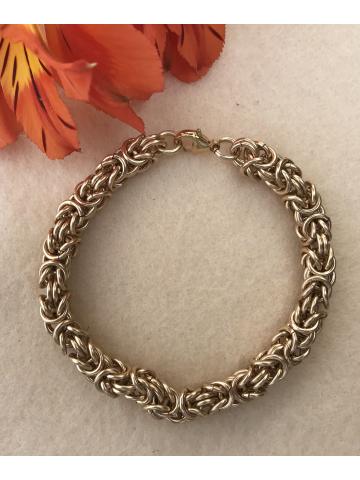 14K Gold-fill Byzantine Bracelet