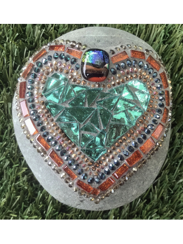 Colorful Heart Mosaic for your Garden #29