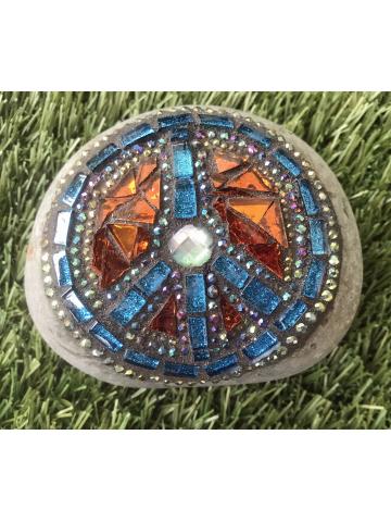 Stunning Peace Mosaic Rock #42
