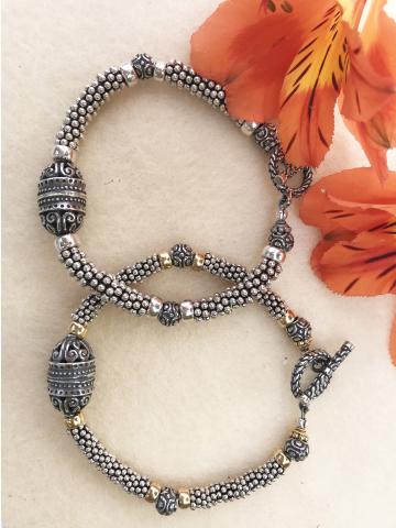 Sterling Silver Bali Style Bracelets