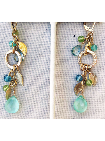 Chalcedony Spring Earrings