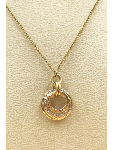 Triple Stack 14K Gold fill, Sterling Silver Pendant Necklace